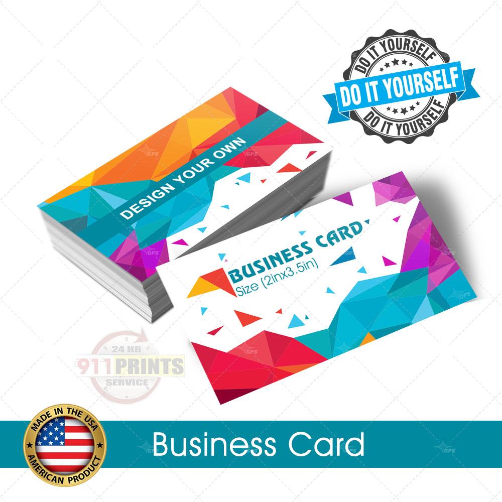 Standard business card 911 prints 24hr rush printing standard business card solutioingenieria Choice Image