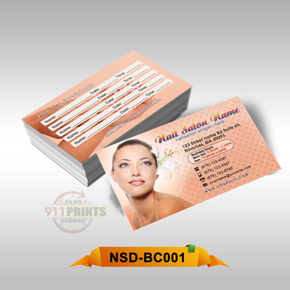 NAIL SPA BUSINESS CARD BC001 – 911 Prints – 24hr RUSH Printing