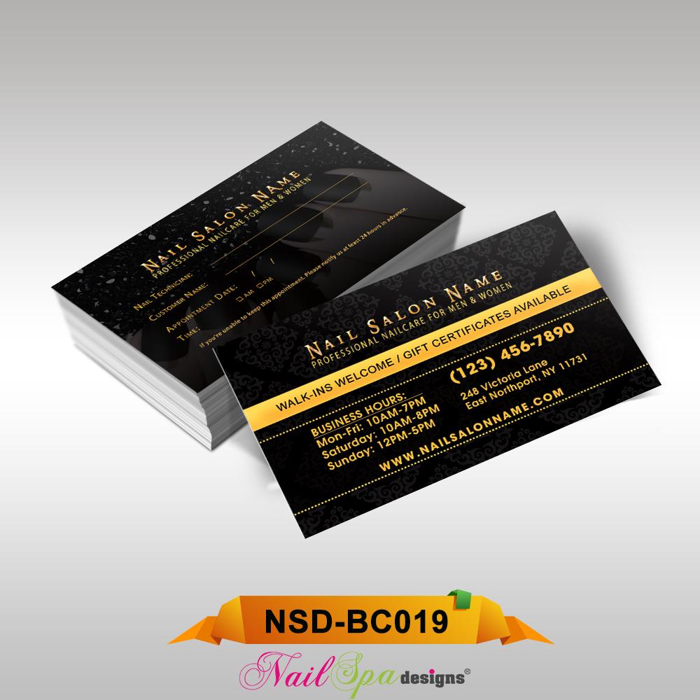 Nail spa business card bc019 911prints 24hr printing nail spa business card bc019 colourmoves