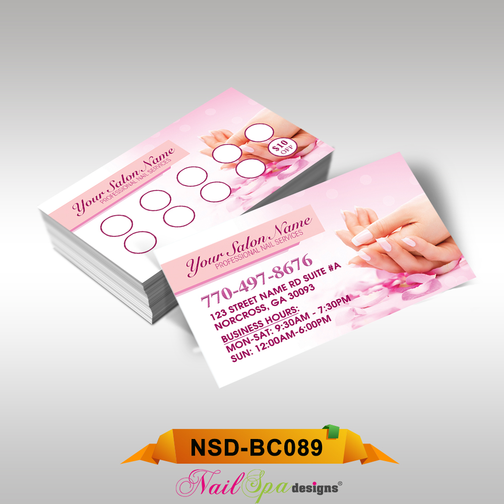 Nail Spa Business Card Bc089