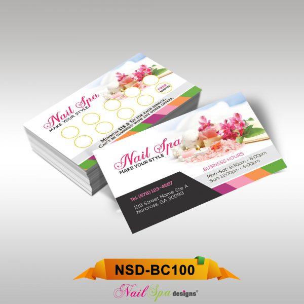 Nail spa business card bc100 911prints 24hr printing nail spa business card bc100 reheart Gallery
