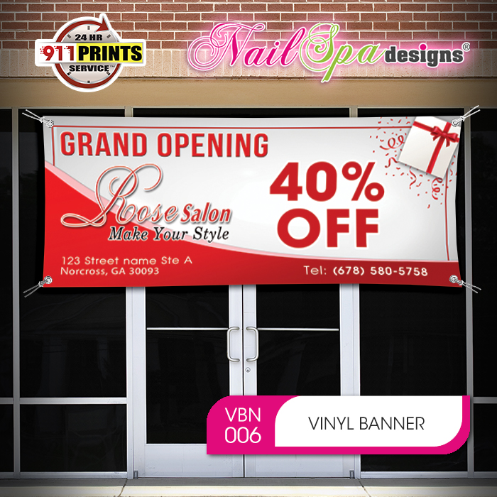 SALON Banner Sign NEW Larger Size Best Quality for the $$$ Red /& White