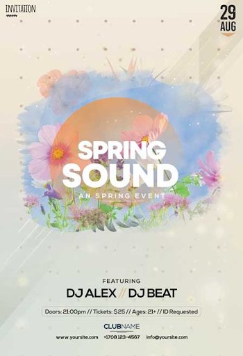 5 Free Spring Poster Templates! - 911Prints || 24hr Printing